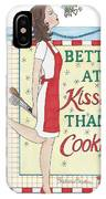 Holiday Kissing Cooking IPhone Case