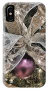 Holiday Sparkle Bow IPhone Case