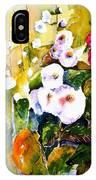 Hollyhock Garden 1 IPhone Case