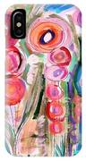 Hollyhocks Of The Garden IPhone Case