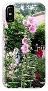 Hollyhocks Taos New Mexico IPhone Case