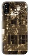 Mcleod Plantation Home In Black And White IPhone Case