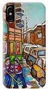 Home Town Painting St Viateur Bagel Street Scene Coca Cola Truck Montreal 375 Carole Spandau Art     IPhone Case