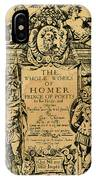 Homer Title Page, 1616 IPhone Case