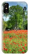 Homestead In The Poppies IPhone Case