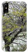 Honey Locust Tree On A Spring Snow Day IPhone Case