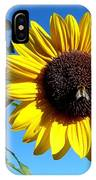 Honeybee On A Sunflower IPhone Case