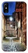 Honfleur Street At Night IPhone Case