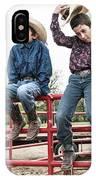 Honoring A Fallen Cowboy IPhone Case