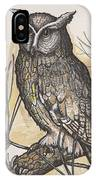 Horned Owl And Pine IPhone Case