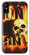 Horror Skulls And Warning Tape IPhone Case
