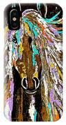 Horse Abstract Brown And Blue IPhone Case