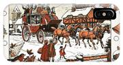 Horse And Carriage In The Snow IPhone Case