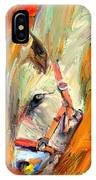 Horse And Grass IPhone Case