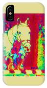 Horse Painting Jumper No Faults Psychedelic IPhone Case