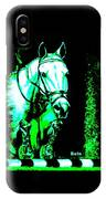 Horse Painting Jumper No Faults Black Blue And Green IPhone Case