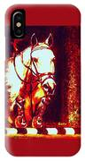 Horse Painting Jumper No Faults Deep Blues And Reds IPhone Case