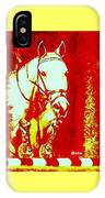 Horse Painting Jumper No Faults Red And White IPhone Case