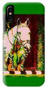 Horse Painting Jumper No Faults Reds Greens IPhone Case