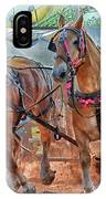 Horse Pull At The Fair IPhone Case