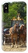 Horse Pull In New Brunswick Canada IPhone Case