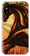 Horse Through Web Of Fire IPhone Case