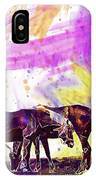 Horses Flock Pasture Animal  IPhone Case