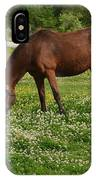 Horses In The Meadow 2 IPhone Case