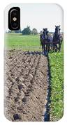 Horses Plowing Rows Two  IPhone Case