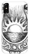 Horseshoe Sun And Sea Tattoo IPhone Case