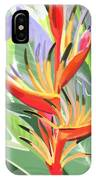 Hort Park Heliconia IPhone Case