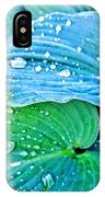 Hosta After The Rain IPhone Case