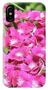 Hot Pink Sweet William Flowers In A Garden Blooming IPhone Case