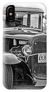 Hot Rod - Vignette Bw IPhone Case