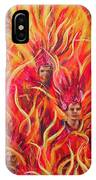 Hot Samba I Triptyche Left Panel IPhone Case