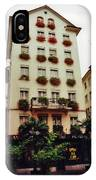 Hotel In Down Town Zurich Switzerland IPhone Case