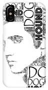 Hound Dog Elvis Wordart IPhone Case
