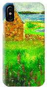 House By The Field IPhone Case