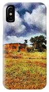 House In A Desert Land IPhone Case