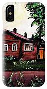 House In Sergiyev Posad   IPhone Case