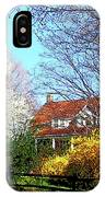 House On The Hill In Spring IPhone Case