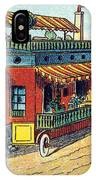 House On Wheels, 1900s French Postcard IPhone Case