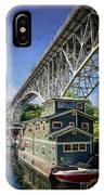 Houseboat And Aurora Bridge Seattle IPhone Case