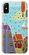 Houses Trees And Sailboats By The Bay IPhone Case