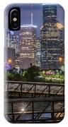 Houston Skyline Over Buffalo Bayou At Twilight IPhone Case