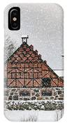 Hovdala Castle Gatehouse And Stables In Winter IPhone Case