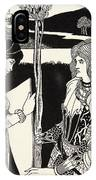 How Morgan Le Fay Gave A Shield To Sir Tristran IPhone Case