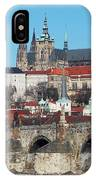 Hradcany - Cathedral Of St Vitus And Charles Bridge IPhone Case