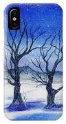 Huddled On A Snowy Field.  IPhone Case