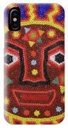 Huichol Beadwork Sun Mexico IPhone Case